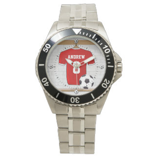 Personalized soccer football jersey wristwatches