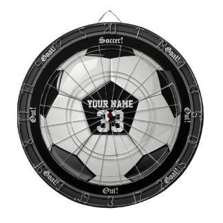 Personalized Soccer (Football) Name and Number Dart Board
