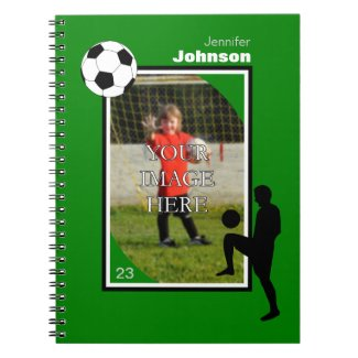 Personalized Soccer/Football Notepad Note Book
