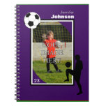 Personalized Soccer/Football Notepad Notebooks