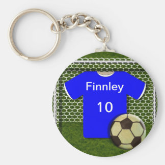 Personalized Soccer Football Themed Keychain
