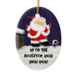 personalized soccer gift ceramic ornament