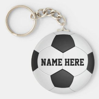 Personalized Soccer Gifts for Boys & Girls Basic Round Button Keychain