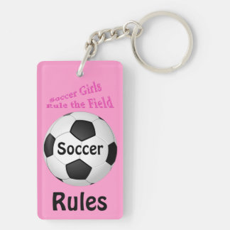 Personalized Soccer Gifts for Girls Team Rectangular Acrylic Keychain