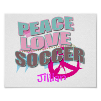 Personalized SOCCER Gifts Posters