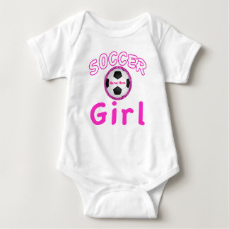 Personalized Soccer Girl Baby Apparel Baby's Name Baby Bodysuit