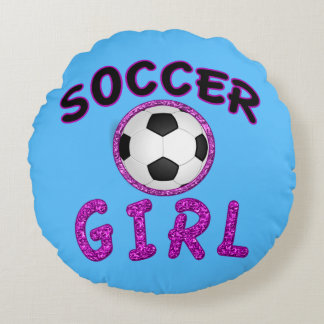 Personalized Soccer Girl Pillow with NAME on Back