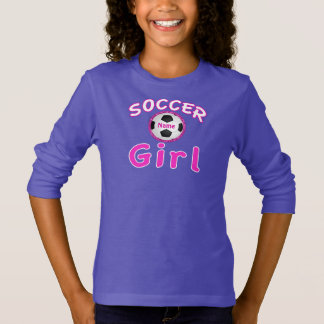 Personalized Soccer Girl Sweatshirt NAME on Ball