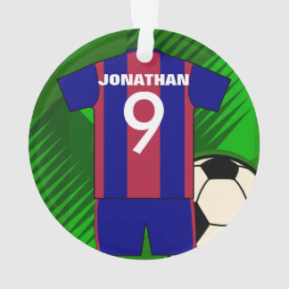 Personalized soccer jersey and ball
