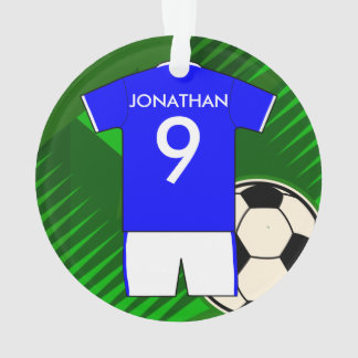 Personalized Soccer Jersey Blue and White