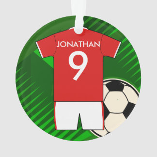 Personalized Soccer Jersey Red and White