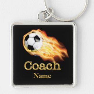 PERSONALIZED Soccer Keychains for Coaches His NAME