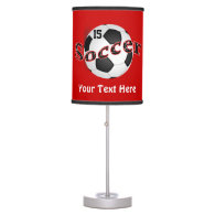 Personalized Soccer Lamps for Kids NAME and NUMBER