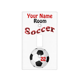 Personalized Soccer Light Switch Plate