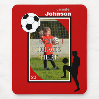 Personalized Soccer Mouse Pad