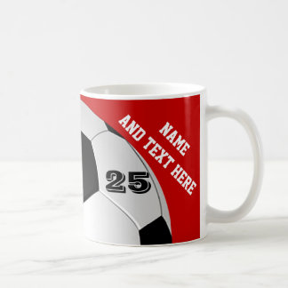 Personalized Soccer Mugs Name, Number, Team Colors