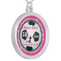 Personalized Soccer Necklaces with Number, Name