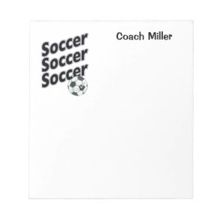 Personalized Soccer Notepad