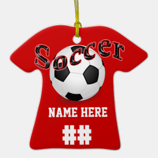 Personalized Soccer Ornaments with NAME & NUMBER