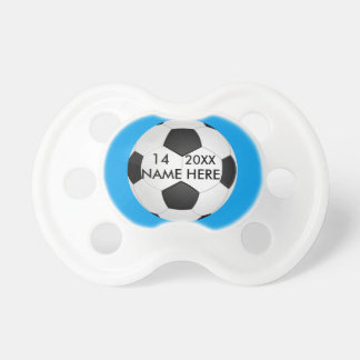 Personalized Soccer pacifier  for boys