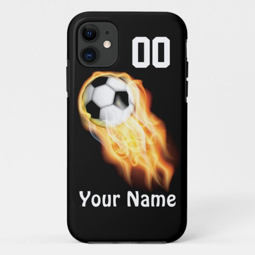 PERSONALIZED Soccer Phone Cases YOUR NUMBER & NAME Phone Case