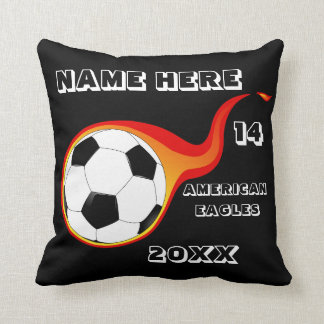 Personalized Soccer Pillow with Player's Name