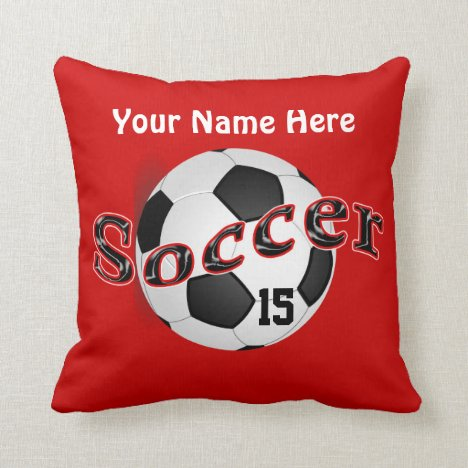 Personalized Soccer Pillows with NAME and NUMBER