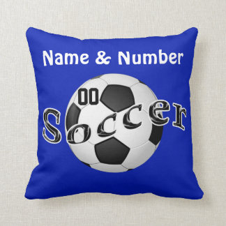 Personalized Soccer Pillows Your NAME and NUMBER