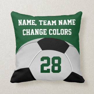 Personalized Soccer Pillows Your Name, Team COLORS