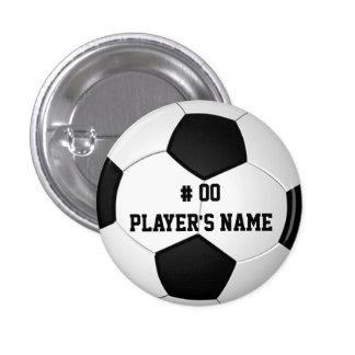 Personalized Soccer Pins with Your Text or Delete