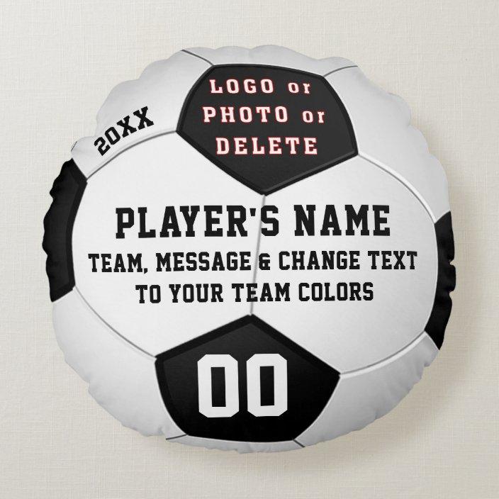 Personalized Soccer Senior Night Gift Ideas Round Pillow Zazzle Com
