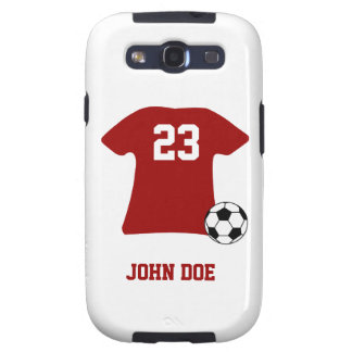 Personalized Soccer Shirt Ball Samsung Galaxy S3 Samsung Galaxy S3 Cover