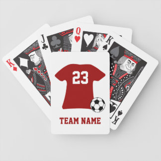 Personalized Soccer Shirt With Ball Bicycle Playing Cards