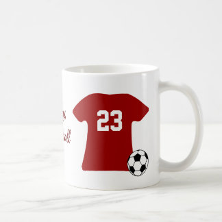 Personalized Soccer Shirt With Ball Coffee Mug