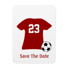 Personalized Soccer Shirt With Ball Flexi Magnet at Zazzle