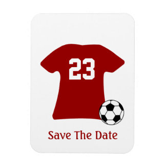 Personalized Soccer Shirt With Ball Flexi Magnet