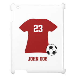 Personalized Soccer Shirt With Ball iPad Case