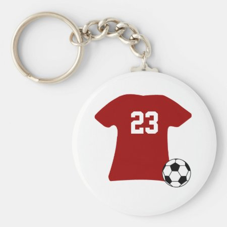 Personalized Soccer Shirt With Ball Keychain