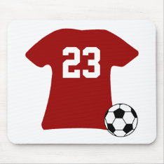 Personalized Soccer Shirt With Ball Mouse Pad at Zazzle