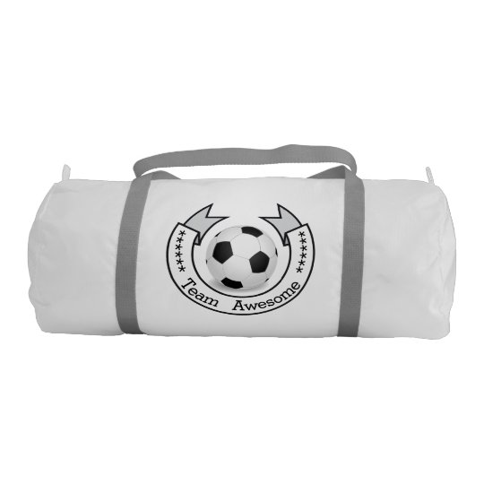 7d780327f7 Personalized Soccer Team Banner Duffle Bag