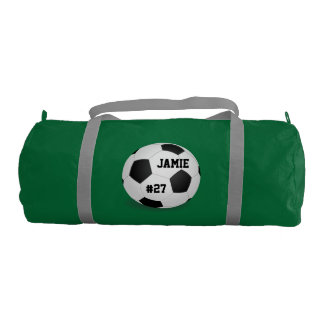 Personalized Soccer Team Banner Duffle Bag Gym Duffel Bag