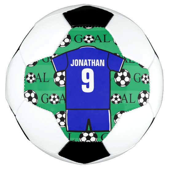 Personalized soccer uniform soccer ball