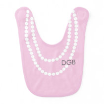 Personalized Socialite Pearl Necklace Bib