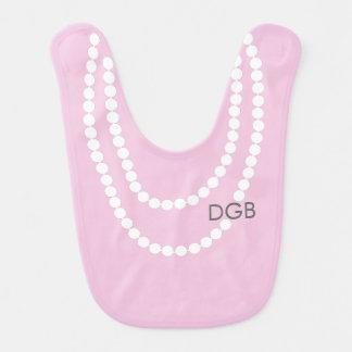 Personalized Socialite Pearl Necklace Bib