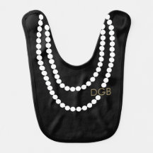 Personalized Socialite Pearl Necklace Bibs