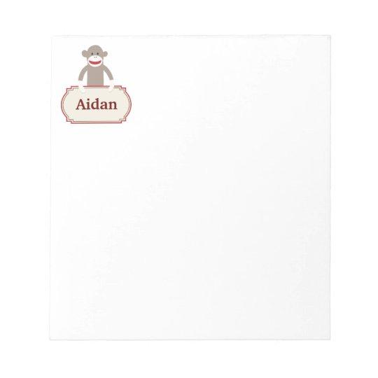 Personalized Sock Monkey Memo Notepad