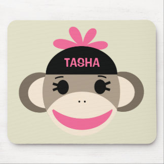 Personalized Sock Monkey Mousepad for Kids