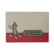 Personalized Sock Monkey Post It Notes
