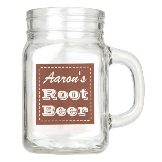 Personalized Soda Mason Jar Mug