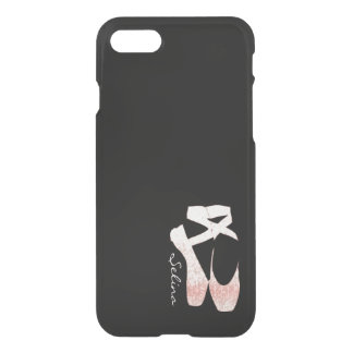 Personalized Soft Gradient Pink Ballet Shoes iPhone 7 Case